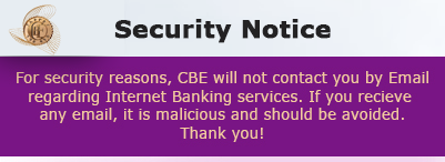 Cbe Internet Banking Notification
